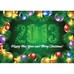 Vector happy new year 2013 and merry Christmas card (cgvector) Tags: 2013 abstract background ball banner border card cartoon celebrate celebration christmas gift green greeting illustration ink light merry modern newyear number ornate paint shine sketch snow snowflake texture tree vector vintage winter xmas year