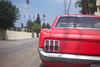 Red Mustang and palms (ADMurr) Tags: m0001707 la hollywood red mustang ford palm trees 50mm lens car auto leica m240 bumper