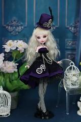 Steampunk outfits for MH (Elena_art) Tags: monsterhigh mh ooak obitsu drakuloura lagoona steampunk handmade commission