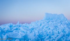 Ice Castle (maureen.elliott) Tags: ice winter shoreline georgianbay sunset skies nature textures iceformation blue
