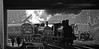 2890 and 52322 Double Header. (wontolla1 (Septuagenarian)) Tags: elr east lancashire lancs railway bury bolton street station steam locomotive loco south signal box smoke bridge 2890 52322 black white blackwhite