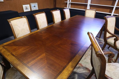Ethan Allen Dining Room Table w/ 12 Chairs ($392.00)
