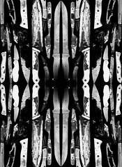 my so called knife 5 (wesley.miller.art) Tags: darkart weirdart outsiderart lowbrow surrealist surrealism surreal collage digitalcollage digitalart knife knives blades weapons kaleidoscope rorschach