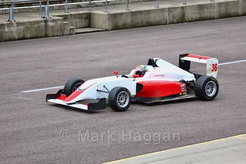 Wing Hoong in British F3 pre-season testing 2018
