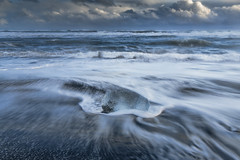 Ice Beach, Iceland (angie_1964) Tags: ice beach ocean iceland water nature seascape landscape sand clouds sky sunset nikond850