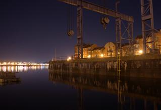 Lights at Preston Docks