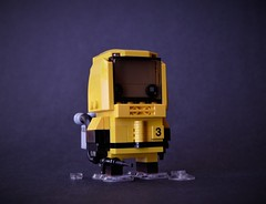Hazmatz (√erde') Tags: hazmat apocalypse yellow brickhead brickheadz zombie brick head cube