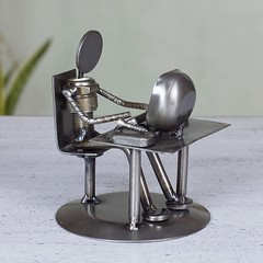 Auto parts Metal Geek Sculpture (mywowstuff) Tags: gifts gadgets cool family friends funny shopping men women kids home