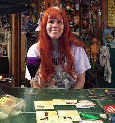 20170428 2039 - Pandemic Legacy date night #3 - Carolyn - (by Beth) - 02392020 (Clio CJS) Tags: 20170428 201704 2017 virginia alexandria clintandcarolynshouse upstairs gamenight gamenight20170428 game boardgame playingboardgame playingboardgames playingpandemiclegacy pandemiclegacy table pingpongtable sitting carolyn camerapersonbethh cameraphone smiling smile