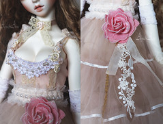 Soft Mirage details (AyuAna) Tags: bjd ball jointed doll dollfie ayuana design handmade ooak clothing clothes dress set lolita kawaii romantic lace style fashion couture outfit sewing sewingfordolls sd sd13 sd10 feeple60 sadol love60 yena whiteskin