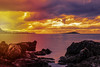 Isola delle Femmine Sunset (ilsiciliano_) Tags: sicilia iceland sunset tramonti sunsets isola delle femmine sea colours cloudy national geography red orange blue palermo italia