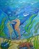SIR AND MADAM SEA HORSE (tomas491) Tags: bubbles seahorses seastar fantasypainting underwater plants waterlandscape