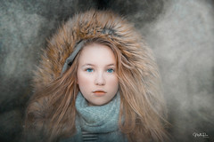 A girl in the smoke (mirri_inc) Tags: girl young smoke blonde face beauty eyes pose fog mist mood dark soft mystery