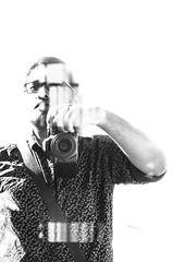 Self Portrait (relishedmonkey) Tags: nikon d5300 self portrait author relishedmonkey shirt man one camera monochrome black white 35mm 18g sunny day sun sunshine