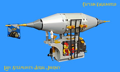 Lady Steamlove's Aerial Journey (2) (captainbraunsfeld) Tags: steampunk airship lego