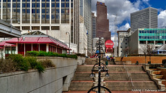 Atlanta, GA: Underground Atlanta view to the Georgia-Pacific building on Peachtree St (nabobswims) Tags: atlanta downtownatlanta fivepoints georgia georgiapacific hdr highdynamicrange lightroom nabob nabobswims photomatix sel18105g sonya6000 us undergroundatlanta unitedstates