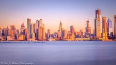 Midtown Skyline Sunset (ericjmalave) Tags: longexposure manhattan midtown newjersey nj weehawken fuji xt10