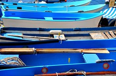 Blue and blue (marco.falaschiii) Tags: blu blue barca barche boat remi boats sea italy liguria cinque terre italia riviera ligure rowing mare bianco white colors colori color colore legno wood