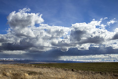 Plains of eastern Oregon with the Blue Mountains (icetsarina) Tags: oregon bluemountains winter snow clouds plains storm
