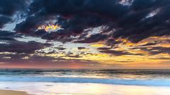 Sunrise Seascape (Merrillie) Tags: daybreak landscape shellybeach nature dawn surf waves waterscape newsouthwales clouds earlymorning nsw water beach ocean sunrise sky morning coastal sea outdoors seascape coast centralcoast cloudy australia