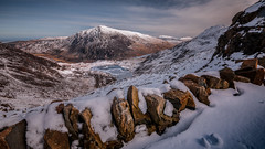 Mountain view... (Einir Wyn Leigh) Tags: landscape mountain valley lake wales wall snow spring march uk britain nikon sigma nature natural light outside pleasure walking climbing