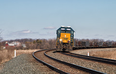 "The ""Barn Shot"" (Wheelnrail) Tags: csx csxt locomotive train trains emd sd402 rail road q277 barn rural midwest ohio indianapolis line subdivision conrail 8135 double track sunny shot photo photography"