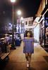 lemane4 (eclecticritic) Tags: portrait portraiture nighttime downtown walking stroll wallstreetasheville asheville walk bluedress sneakers