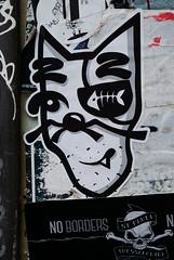 HH-Sticker 2255 (cmdpirx) Tags: hamburg germany reclaim your city urban street art streetart artist kuenstler graffiti aerosol spray can paint piece painting drawing colour color farbe spraydose dose marker stift kreide chalk stencil schablone wall wand nikon d7100 vinyl foil folie mail post paket sticker aufkleber combo trading glue kleber klebchen klebstoff cement handdrawn handpainted handgemalt handmade