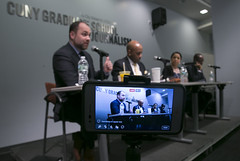 Speaker Corey Johnson at CUNY J School for Ethnic Media Newspaper Panel--Credit William Alatriste (New York City Council) Tags: district3 featured