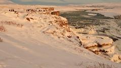 Gullfoss in the golden hour (Iceland) (armxesde) Tags: pentax ricoh k3 iceland island winter snow schnee waterfall wasserfall gullfoss goldenhour goldenestunde