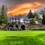 Hillside Lodge - Gaslight Village - Wyoming County -  New York -  Former Spa out of Field Stones thumbnail