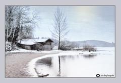 Fischerhütte am Chiemsee, (john_berg5) Tags: landscape landschaft winter ice lake chiemsee chiemgau bayern nikon frost kalt hütte