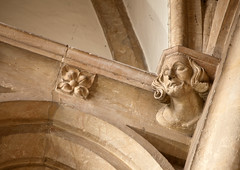 Bristol Cathedral Decorated detail (archidave) Tags: bristol architecture cathedral church gothic medieval detail decorated stone carved figure headstop corbel