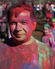 Holi, the Indian Festival of colors (Ideaholic) Tags: holi festival colors elmar ektar bellevue washington india canon 7 rangefinder leitz 90mm