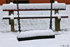 Snowy spring 04 (MoyanSpirit) Tags: snow snowyspring bench swing playground