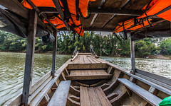 Ferry to Nam Cat Tien (Rakuli) Tags: ifttt 500px ferry boat travel water river national park vietnam nam cat tien dock railing pier blue sky waterfront vacation sightseeing