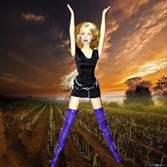 Growing Season (marieschubert1) Tags: field farm plants growing triumph fashion doll barbie