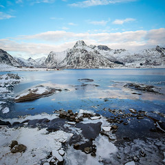 Cold water, Lofoten Islands, Norway (monsieur I) Tags: arctic winter lofoten arcticcircle cold norway mountains iced lofotenislands travel north snowscape coldwater norwegian icescape articcircle monsieuri europe dji