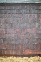 Tin can siding (Diane Meade-Tibbetts) Tags: tincansiding gascans old roadtrip architecture antique bodiestatehistoricpark retro bodieca