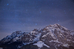 Leogang Alps Austria Sky full of stars