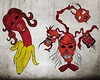 Devil Vectors -Set-1 (stockgraphicdesigns) Tags: clipart demon devil devilvector halloween handdrawn hell horror monster red satan scary