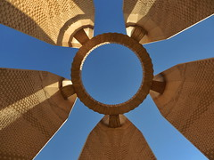 Egyptian-Russian Friendship Monument (djcotto1971) Tags: olympus sz30mr aswan egypt northern africa nil monument blue sky circle