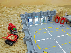 A robots work is never done. (Rogue Bantha) Tags: lego space landing pad robot