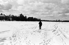 Lake Muskoka (Kevo89) Tags: film jch400 japancamerahunter streetpan400 bw blackwhite 35mm minolta muskoka gravenhurst lake frozen winter snow