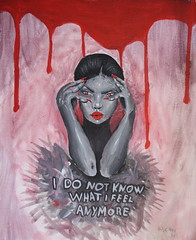 I do not know what i feel anymore (Silje Roos) Tags: painting paint acrylicpainting acrylic acrylics acrylicpaint acryl acrylicart face background do kow what feel anymore woman girl hotgirl model paintings fashion portrait photography art arte kunst arts artist darkart