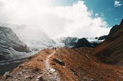 (Bazzerio) Tags: lost switzerland hike analogue adventure animal travel trek dream world grainy alps mountain lake woman travels exploredreamdiscover explore 35mm vintage valley matterhorn