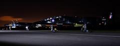Black Magic! (MarkYoud) Tags: raf cosford threshold aero nightshoot black sepecat jaguar t2 fast jet military xx837 xx141