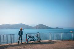 Nice postal (]vincent[) Tags: hk hong kong china asia canon 50 mm sony rx 100 mk iv girl self ginger beautiful portrait people bicycle cheung chau trip island sea blue sun ocean dusk