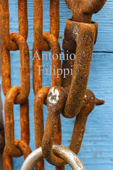 Interweaving of chains and bonds (filippi antonio) Tags: abstract anchor background black blue boat brown chain chains closeup detail equipment fishingboat grey harbor heavy industrial industry iron jumbo link marine mariner metal mooring old pattern port rust rusty sea signs steel symbols transportation truck vintage white