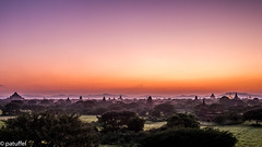 Bagan panorama during Blue Hour (patuffel) Tags: bagan panorama myanmar burma blue hour pagoda temple
